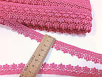 Мереживо кружево макраме на метраж 2 см. Рожеве. Таїланд. Ціна за 1 метр