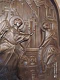 Икона Божией Матери  «БЛАГОВЕЩЕНИЕ ПРЕСВЯТОЙ БОГОРОДИЦЫ» резная, фото 3