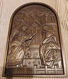 Икона Божией Матери  «БЛАГОВЕЩЕНИЕ ПРЕСВЯТОЙ БОГОРОДИЦЫ» резная, фото 2