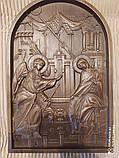 Икона Божией Матери  «БЛАГОВЕЩЕНИЕ ПРЕСВЯТОЙ БОГОРОДИЦЫ» резная, фото 5