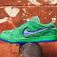 Кроссовки мужские Nike SB Dunk Low X Grateful Dead Green\Blu зеленые с синим (top replic)