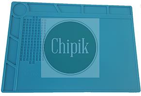Силиконовый термостойкий коврик для пайки S-130 с ячейками под винты