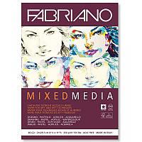 19100502 Альбом для рисования Mixed Media А5 (14,8х21 см) 250 г/м.кв. 40 листов белой бумаги склейка Fabriano