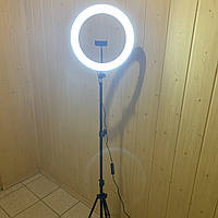 Кольцевая лампа 36 см со штативом на 2м для телефона селфи кольцо световое кольцевой светодиодное led блогеров