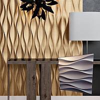 """Гипсовая декоративная 3д панель """"Бутоны"""" для отделочных работ и для декорирования стен 50x50"""