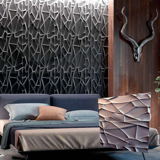"""Декоративная 3д панель """"Рок"""" из высоковачественного гипса для отделки стен 50x50"""