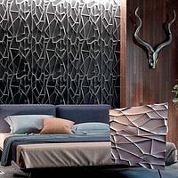 """Декоративна 3д панель """"Рок"""" з высоковачественного гіпсу для обробки стін 50x50"""