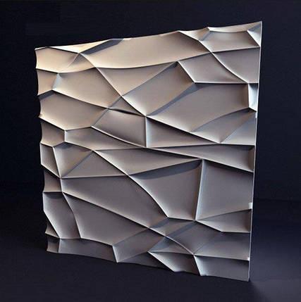 """Декоративная 3д панель """"Рок"""" из высоковачественного гипса для отделки стен 50x50, фото 2"""
