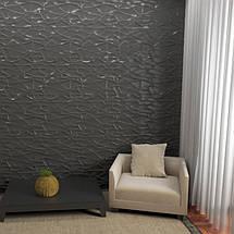 """Декоративная 3д панель """"Рок"""" из высоковачественного гипса для отделки стен 50x50, фото 3"""