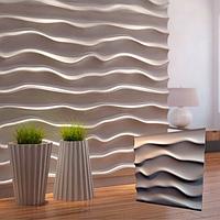 """Декоративная 3д панель """"Эфир"""" для отделочных работ и для декорирования стен 50x50см"""
