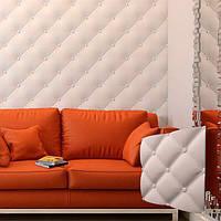 """Гіпсова настінна 3д панель """"Італія"""" з високоякісного гіпсу для обробки стін 50х50см"""