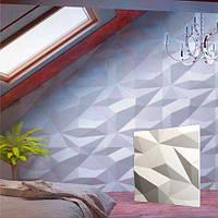 """Декоративна 3д панель з гіпсу """"Кристал"""" для оздоблювальних робіт і для декорування стін 50х50см"""