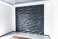 """Декоративна 3д панель """"Лотос"""" з высоковачественного гіпсу для обробки стін 50x50"""