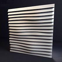 """Декоративная 3д панель """"Линии"""" из высококачественного гипса Кнауф Г-10 50x50, фото 2"""