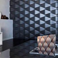 """Рельєфні гіпсові 3д панелі """"ЛУСКА"""" для внутрішньої обробки стін і стелі 50x50"""