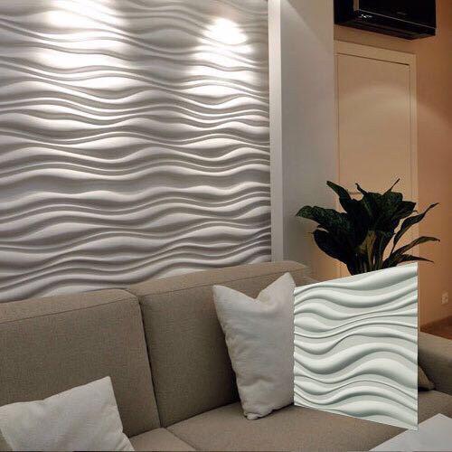 """Гипсовая стеновая 3д панель """"ПРИБОЙ"""" для внутренних работ и отделки стен 50x50"""
