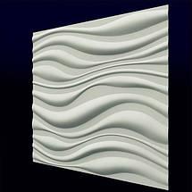 """Гипсовая стеновая 3д панель """"ПРИБОЙ"""" для внутренних работ и отделки стен 50x50, фото 3"""