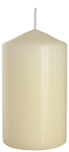 Свеча цилиндр кремовая Bispol 12 см (sw70/120-011)