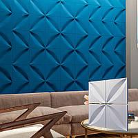 """Гіпсова 3д панель """"ПЕЛЮСТКУ"""" з високоякісного гіпсу для стін і стелі 50x50"""