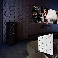"""Гіпсова 3д Панель """"Черепиця"""" для стін і стелі з гіпсу Кнауф Р-10 50x50"""