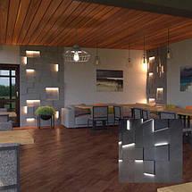 """3д панели с подсветкой """"LED квадраты"""" для внутренних работ и интерьера 25x25, фото 2"""