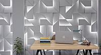 Световые 3д панели IQ из гипса для декора стен