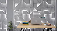 Світлові 3д панелі IQ з гіпсу для декору стін