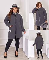 Женское пальто материал: кашемир турецкий двусторонний,застежка: змейка, кулиса/шнурок по талии(48-62), фото 1
