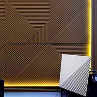 """Гіпсові декоративні 3d панелі для прикраси стін і стель """"Поля"""" 50x50"""