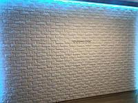Гипсовая 3d панель Кирпичик для декоративной отделки стен и потолков 50x50
