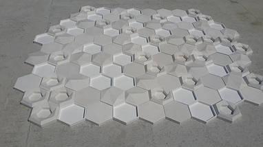 """Гипсовые 3д декоративные панели под мох для стен и потолков """"Соты"""" 25 шт, фото 3"""