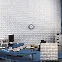 "Гипсовая 3д панель на стену из гипса Кнауф Г-10 ""Матрица"" Размер 50х50см"
