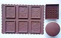 Форма силиконовая для печенья с шоколадом 2