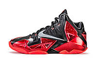 Nike Lebron 11 Miami Heat Black Red, фото 1
