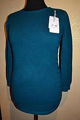 """Женская туника """"с плетениями по бокам """"   больших размеров"""