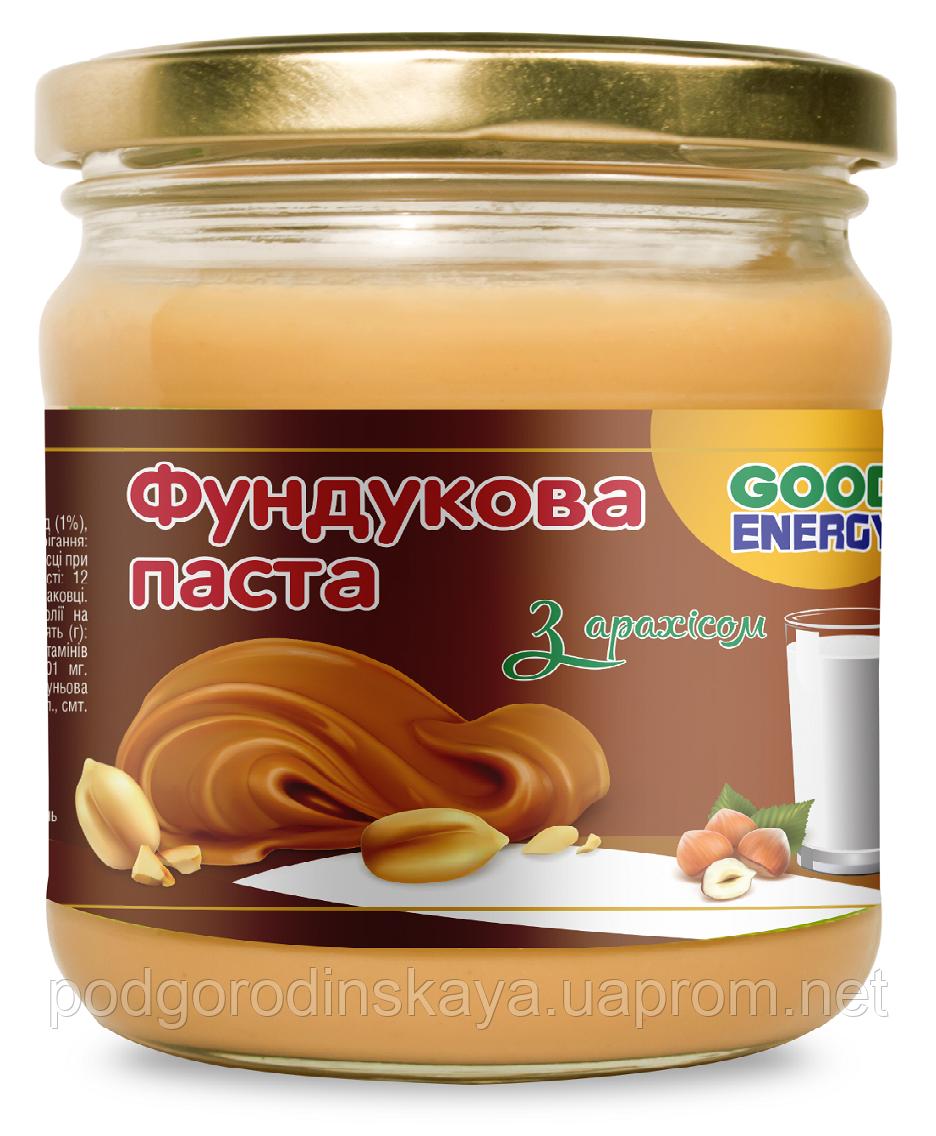"""Фундуковая паста с арахисом ТМ """"Good Energy"""", 180гр."""