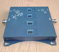 Усилитель мобильной связи четырехдиапазонный SST-2070-LGDW  800/900/1800/2100 МГц c защитой сети, 500-600 кв.