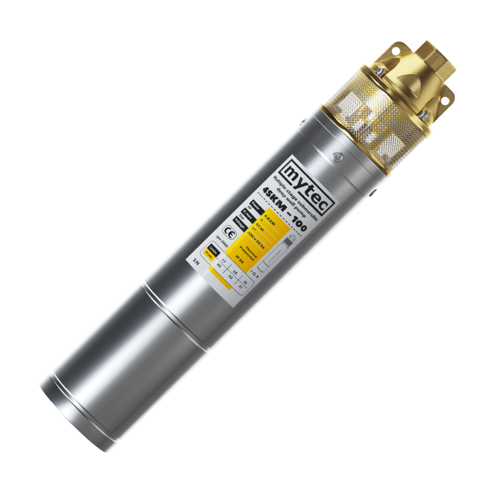 Насос глубинный MYTEC 4SKM 100 0,8 кВт +15 м кабеля