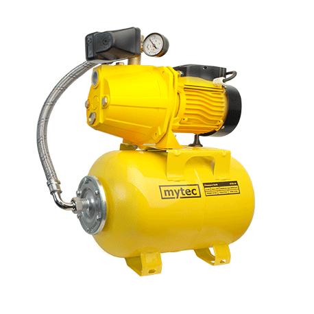 Насосная станция MYTEC JM 1,1 кВт чугун короткая база ( 24 л сталь желтый MYTEC+PM-5)
