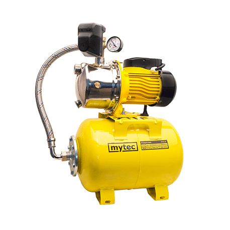 Насосна станція MYTEC JS 1,1 кВт нержавійка ( 24 л сталь жовтий MYTEC+PM-5)