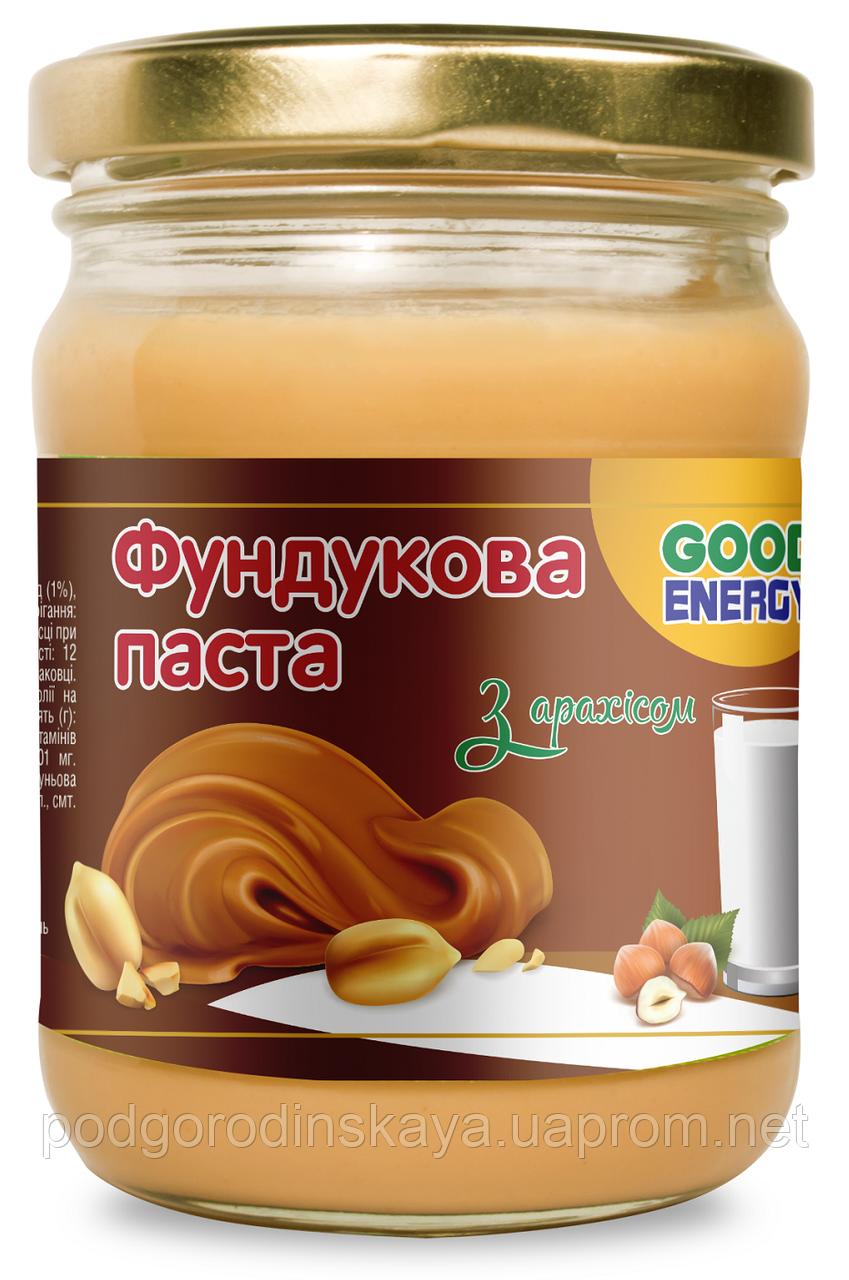 Фундуковая паста с арахисом, 250 г.