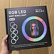 Кольцевая лампа 26 см RGB со штативом на 2м лампа для селфи лампа для тик тока, фото 4