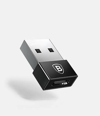 USB to USB-C переходник, Baseus, Black, BS-2360