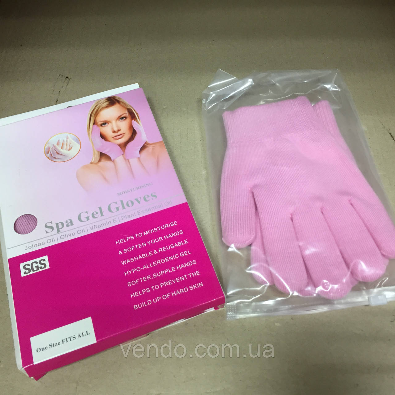 Перчатки гелевые увлажняющие Gel Spa Gloves.