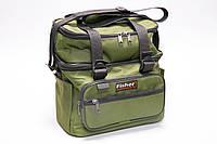 Сумка-органайзер для карповой рыбалки, с плечевым ремнем, ручками и боковыми карманами