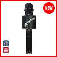Детский микрофон для караоке беспроводной Смена голоса колонки блютуз Черный Black YS 66 Музыкальные игрушки