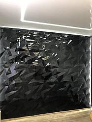 """Гіпсові панелі 3D """"Кристали Premium Gold 500*500*25 мм"""