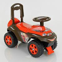 """Детская машинка-каталка DOLONI TOYS """"Автошка"""" коричневая с оранжевым"""