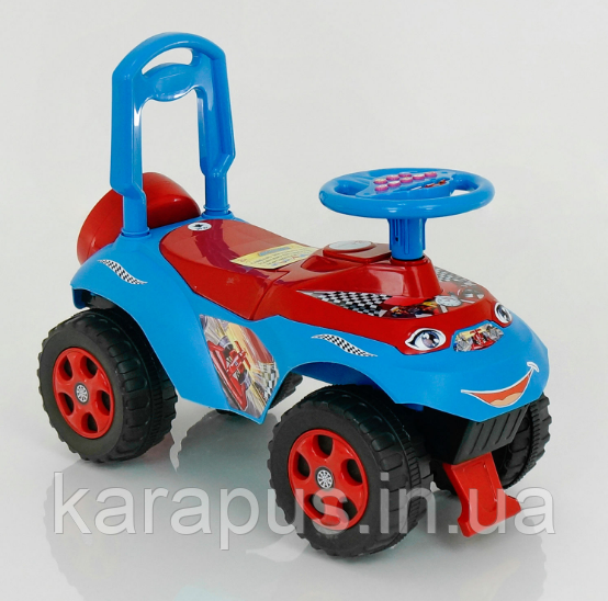 """Детская музыкальная машинка-каталка DOLONI TOYS """"Автошка"""" 0141/12 синяя с красним"""