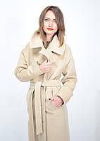 Пальто длинное с поясом